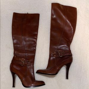 Arturo Chiang Tall Leather Boots 7M